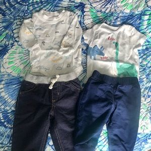 Carter's Bundle of two piece Dinosaur 🦕 outfits